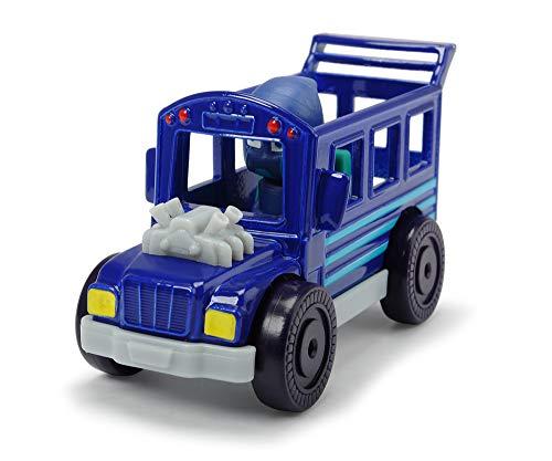 Dickie Toys PJ Masks Single Pack Night Ninja Bus, Night Ninja Bus Fahrzeug aus Metall, Freilauf, 7 cm, ab 3 Jahren