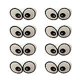 LIXBD Lot de 100 yeux et nez de ...