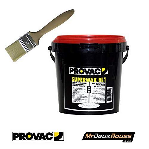 proVac - Pack Crème De Montage Pneu Noir 1Kg & Pinceau 40 Cm - Auto Moto Vélo Quad