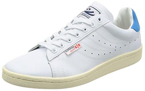 Superga 4832 Efglu, Zapatillas Unisex Adulto, Blanco (White/Blue S902), 41 EU