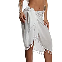 High-quality Fabric: This swimsuits cover-up is made of polyester material, makes it super soft and breathable, comfortable for beachwear. Stylish Design: Each bikini sarong is handmade with detailed fringe tassels, the special design adds a nice boh...
