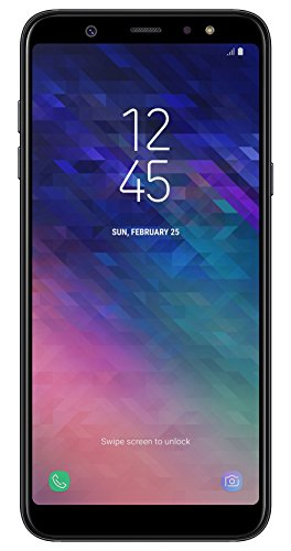 Samsung Galaxy A6+ Smartphone Bundle (6,0 pouces, 32 Go de Mémoire Interne), Noir, Version Allemande