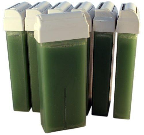 EPILWAX S.A.S - Lot De 6 Roll - Ons De Cire Jetables Aux Huiles Essentielles De Romarin pour épilation, avec Roulette Grand Modèle pour les jambes, aisselles, et le corps.