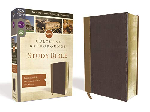 NRSV, Cultural Backgrounds Study Bible, Leathersoft, Tan/Brown, Comfort Print: Bringing to Life the Ancient World of Scripture