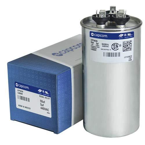 GE Genteq Capacitor round 55/5 uf MFD 440 volt 97F9839