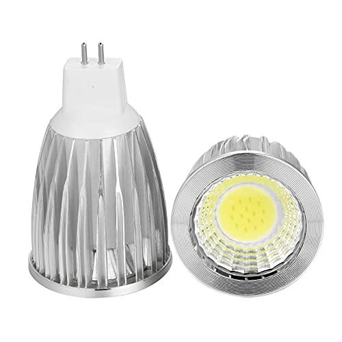 GHC LED Bombillas 1 unids LED Bombilla lámpara Super Deal MR16 COB 9W 12W 15W MR16 12V, Blanco cálido/Pura/fría LED iluminación LED (Color emisivo : Blanco, Wattage : 12w)