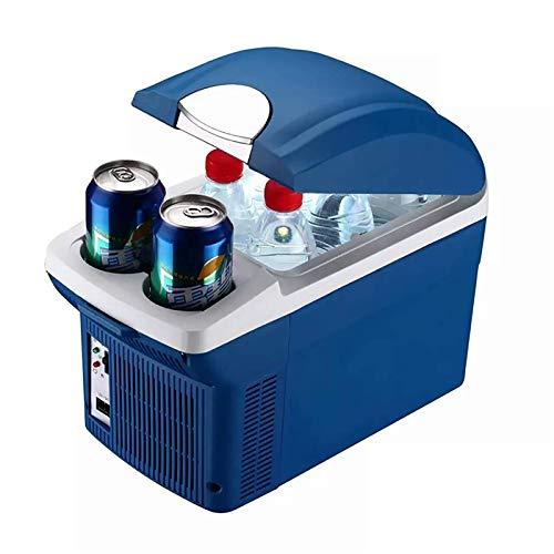 FZYE Mini refrigerador de 8 l, refrigerador más frío/Caliente, refrigerador portátil para automóvil, refrigerador para cosméticos, bajo Nivel de Ruido, 220 V / 12 V, congelador de DOB