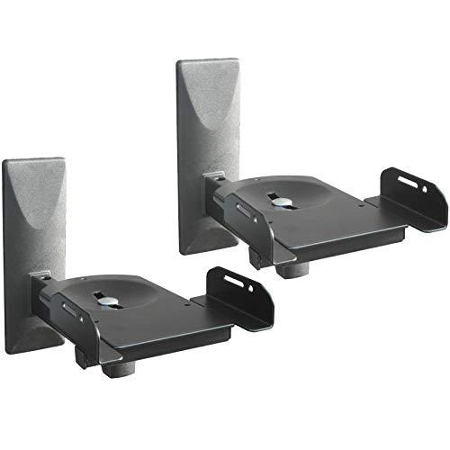 DRALL INSTRUMENTS 2 Supporto a Parete per Casse acustiche - Fino a 12 kg di carico - Supporto per Casse acustiche - Orientabile Girevole inclinabile - Supporto a Parete Regolabile Nero Modello: BH5x2