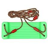 STOBOK Schaukelsitz Set Hängende Baumschaukeln Kunststoff Verstellbare Schaukel Spielzeug mit Seil Outdoor Sport Spielzeug Kinder Geschenk Grün