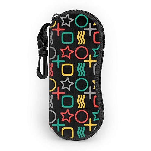 Zener ESP Tarjetas Patrón Portátil Gafas Almacenamiento Bolsa Gafas De Sol Estuche Protector Caja