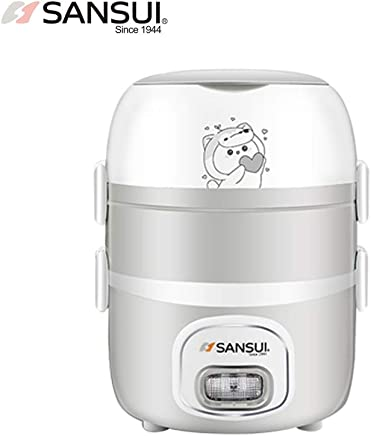 Sansui 山水 电热饭盒 保温 可插电 预约加热 饭盒 便携蒸饭器 (型号F05三层)
