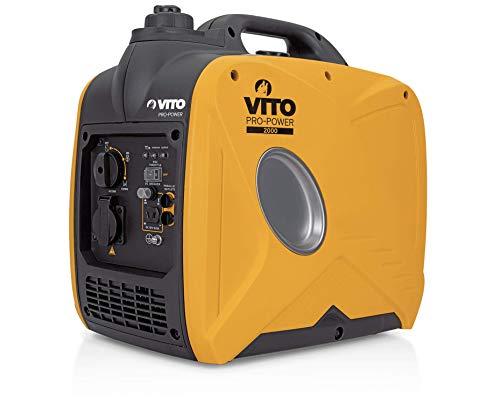 VITO Pro-Power Benzin Inverter 3PS 80cc 2000W leise Stromerzeuger Inverter Generator - Inverter Silent Stromerzeuger 2000 watt sauberem Strom - Leise und leichtgewichtig