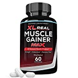 XL Real Muscle Gainer Max 1600MG All Natural Advanced Men's Heath Formula 60 Capsules