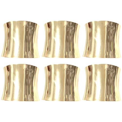 KESYOO 6Pcs Anel de Guardanapo Simples Anéis de Guardanapo de Casamento Porta-Guardanapos de Metal Fivelas de Guardanapo de Jantar para Jantar de Festa de Casamento (Gloden)
