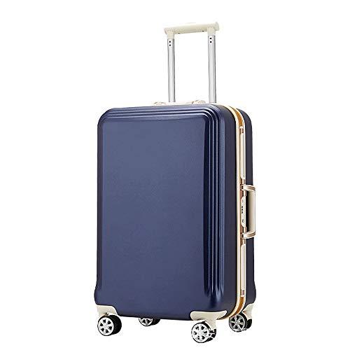 Ys-s Personalización de la tienda Maleta trolley, maleta femenina, masculina cuadro de contraseña, caja universal de aluminio rueda marco, transpirable, resistente al agua, resistente al desgaste, ant