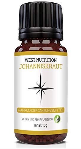 West Nutrition Johanniskraut Globuli – geeignet für Männer, Frauen und Kinder – vegan, pflanzlich Nahrungsergänzungsmittel, radionisch informiert
