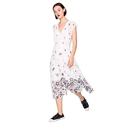 Pepe Jeans Damen Kleid Candela weiß S (36)