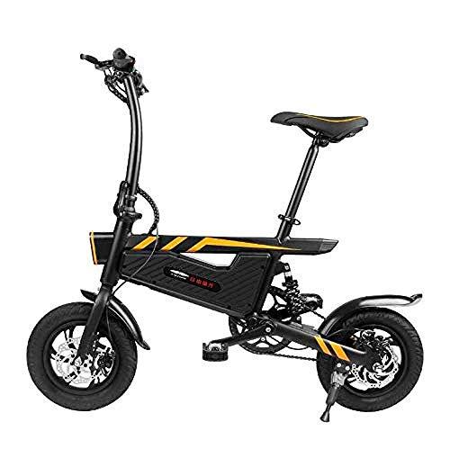 ZXL Scooter Eléctrico, Bicicleta Eléctrica Bicicleta Plegable con Motor de 250 W Bicicleta de Freno de Doble Disco Velocidad Máxima 25 Km/H 45 Km de Largo Alcance para Adolescentes Adultos