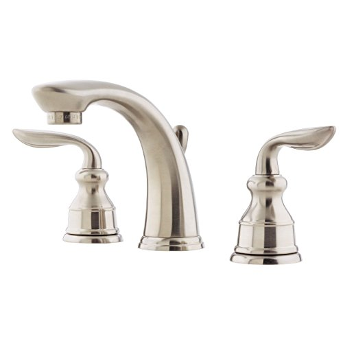 Pfister LF049CB0K Avalon 2-Handle 8 Inch Widespread Bathroom Faucet in Brushed Nickel, Water-Efficient Model