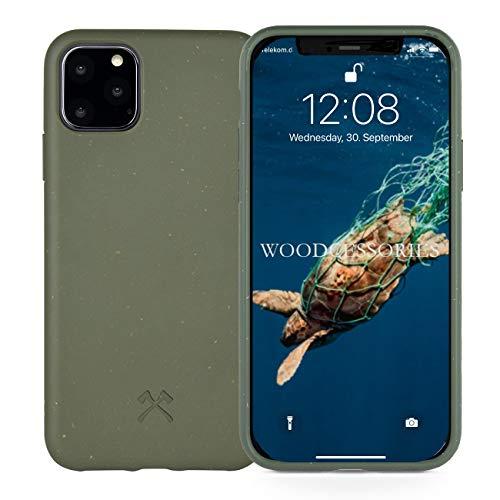 Woodcessories - Handyhülle kompatibel mit iPhone 11 Pro Hülle grün - Nachhaltig aus Pflanzen