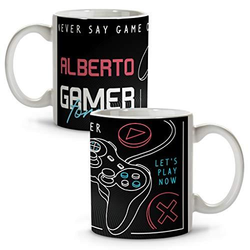 LolaPix Taza Gamer Forever. Tazas Personalizadas. Regalo Friki. Tazas Originales con Nombre. Gamer Forever