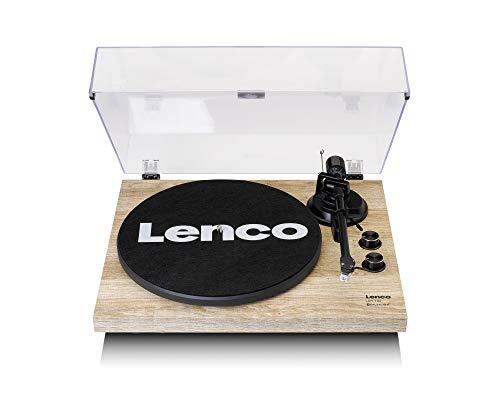 Lenco LBT-188 Plattenspieler - Bluetooth Plattenspieler - Riemenantrieb - 2 Geschwindigkeiten 33 u. 45 U/min - Anti-Skating - Vinyl zu MP3 digitalisieren - braun