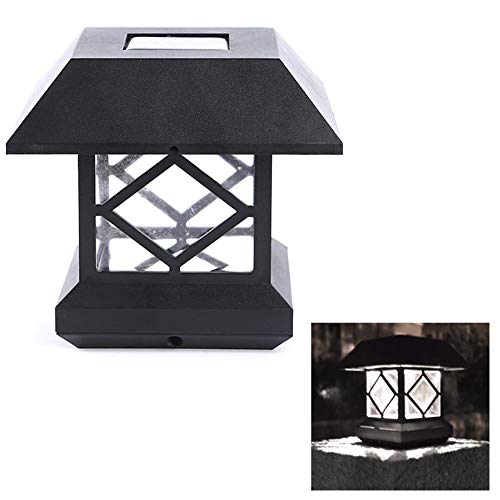 WSJF Tuin Solarlampen, led, post, buiten, tuinverlichting, palen omheining, lantaarnpaal