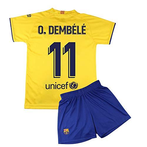 Champion's City Set Trikot und Hose für Kinder zur Erstausstattung – FC Barcelona – Replika – Spieler 12 Jahre 11 - Dembélé