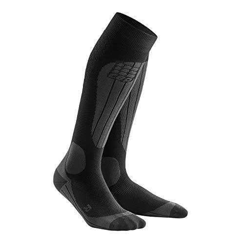 CEP Herren Ski Thermo Socken, Black/Anthracite, III