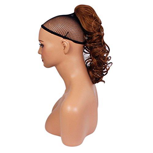 Elegant Hair - 56cm / 22 pouces queue de cheval Ondulé – Auburn clair #30Y - Clip-in pièce de extensions de cheveux réversible avec griffe-clip - 30 Couleurs - 250g