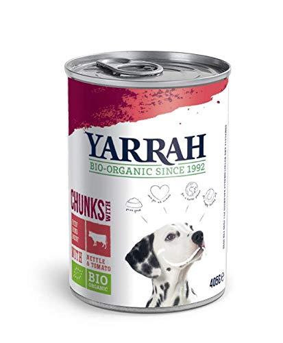 Yarrah - Nasshundefutter Rind in Soße Bio 12 x 405 g