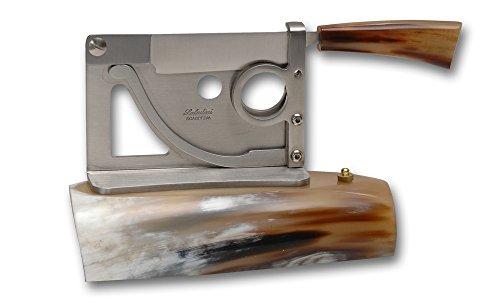 Coltelleria Saladini Zigarrenabschneider Tisch Ochsenhorn. Handwerkliche Messer mit Klinge geschmiedet