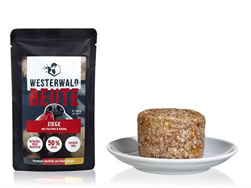 Westerwald-Beute Ziege mit Zucchini & Kürbis – 12x150g Beutel im Sparpack
