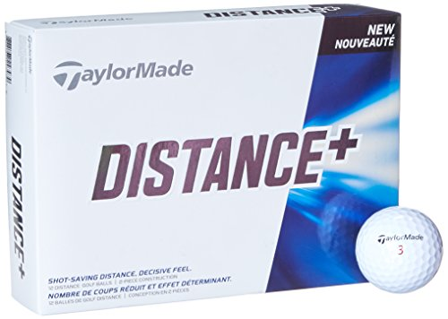TaylorMade Distance Plus Golf Ball, White