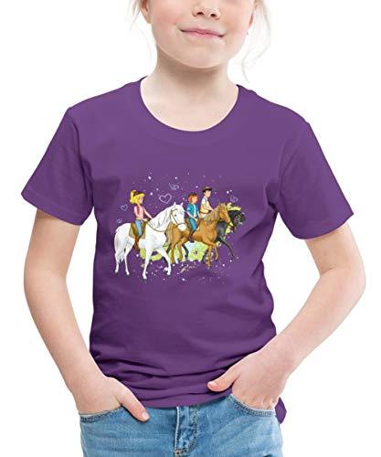 Spreadshirt Bibi Und Tina Ausritt Mit Alexander Falkenstein Kinder Premium T-Shirt, 110-116, Lila