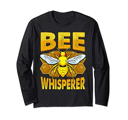 Bee Whisperer Beekeeper Loves Honey Pollen Safe The Bees Langarmshirt