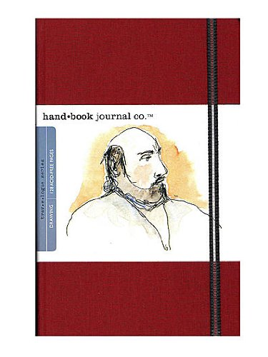 Hand Book Journal Co. Travelogue Drawing Journals 5 1/2 in. x 8 1/4 in. portrait vermilion red [PACK OF 2 ]