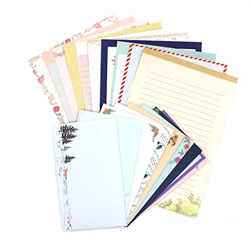 Stationary Paper and Envelopes Set, 90 PCS Stationary Set for Women Girls and Men Boys Cute Stationary Writing Stationery Paper with 30 Envelope - 60 Letter paper (8.27x5.71 inch) With Tape.