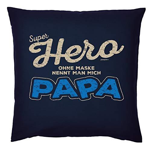 Mega-shirt kussen voor vaders cool kussen met vulling Super Hero zonder masker noemt men Mich Papa cadeau voor papa voor Kerstmis verjaardag