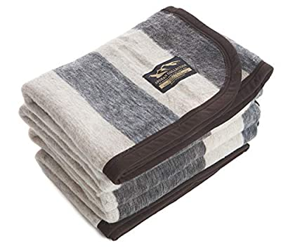 Desert Breeze Distributing Alpaca and Sheep Wool Blanket, Soft and Thick, 72 x 88 inches, Andean Collection, Made in Peru