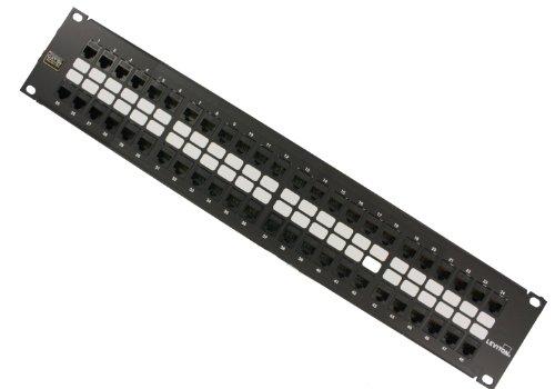 Leviton 5G270-U48 GigaMax 5E QuickPort Patch Panel, 48-Port, 2RU, Cat...