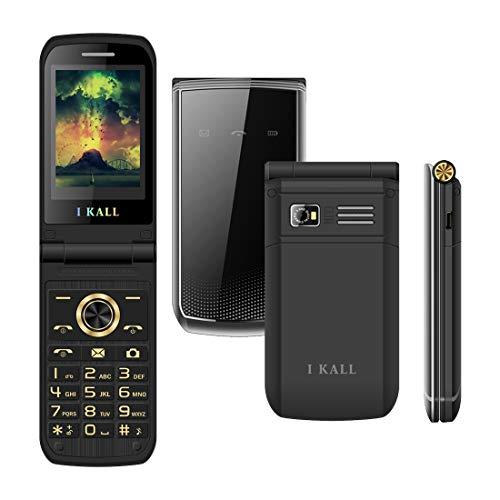 I KALL K60 Premium Flip Mobile (2.4 Inch, 1500 mAh) (Black)