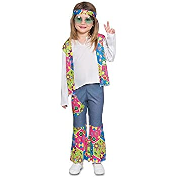 Fyasa 706374-tbb Hippie Niña Disfraz, pequeño: Amazon.es: Juguetes ...