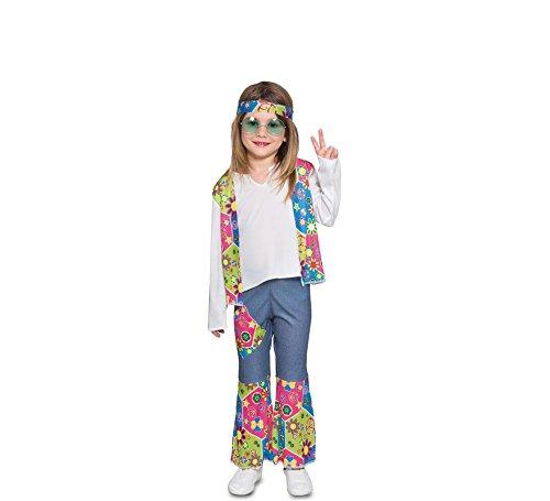 Fyasa 706374-tbb Hippie Niña Disfraz, pequeño