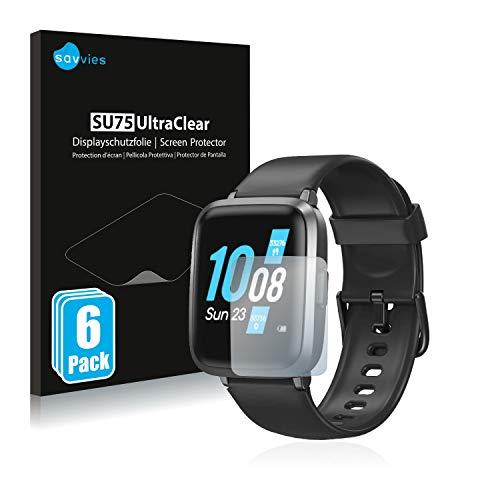 savvies 6-Pezzi Pellicola Protettiva Compatibile con Tomshoo Smartwatch 1.3  Protezione Schermo Trasparente