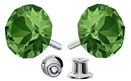 Crystals&Stones Mujer Niños plata de ley 925 plata redondo Crystal