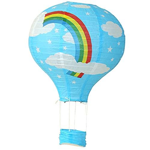 FUBBY Papierlampion Heißluftballon Falten Papierlaterne DIY Heißluftballon Hänge Deko für Hochzeit Feier Geburtstag Party Einschulungsparty Mottoparty Baby-Shower-Party, 25cm