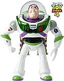 Disney Pixar Toy Story 4, Figurine Parlante Buzz l'Éclair Décollage Express, Lumières, Sons et Phrases, Version Française, Jouet pour Enfant, GGH40