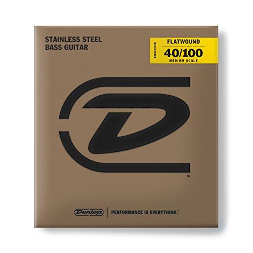 Jim Dunlop Flatwound Medium Scale 40/100 Light 4/SET Bass Guitar Strings (DBFS40100M)