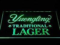 Yuengling Traditional Lager LED看板 ネオンサイン ライト 電飾 広告用標識 W30cm x H20cm グリーン